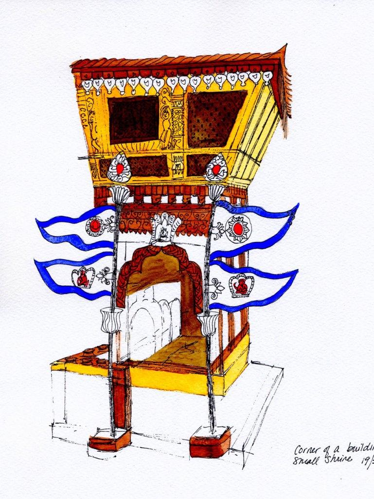 Small Shrine. Kathmandu, Nepal