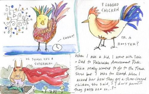 three legged chicken