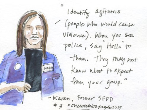 These first few sketches were done at the Mill valley Community Action Network meeting